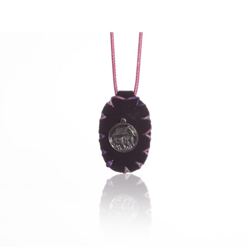 breslov shop nanach amulet color black and pink with my rebbe nachman
