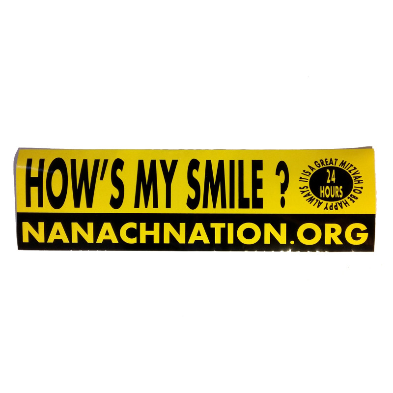 hows my smile  hows my drive breslov sticker
