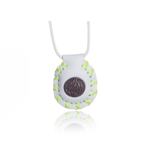 breslov shop nanach amulet color white and green with my fire