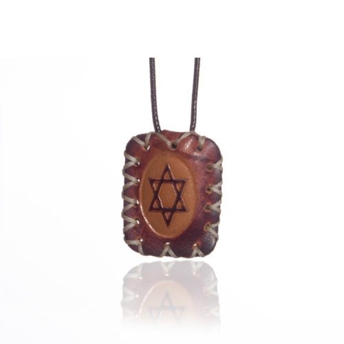 breslov shop nanach amulet -kamea leather with david star