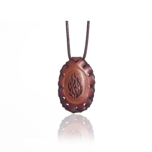 breslov shop nanach amulet -kamea leather with my fire stamp