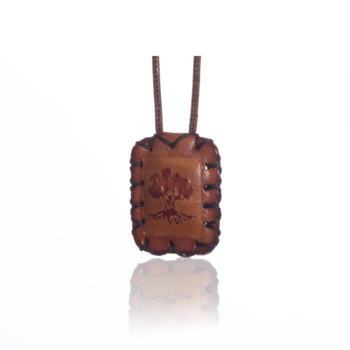 breslov shop nanach amulet -kamea leather with tree