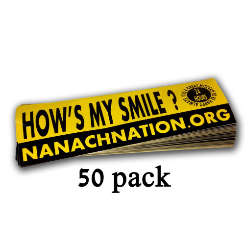 hows my smile breslov sticker hows my drive spread 50 pack