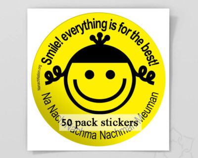 "50 pack ""Smile, Everything is for the best"" sticker ! size XXL"